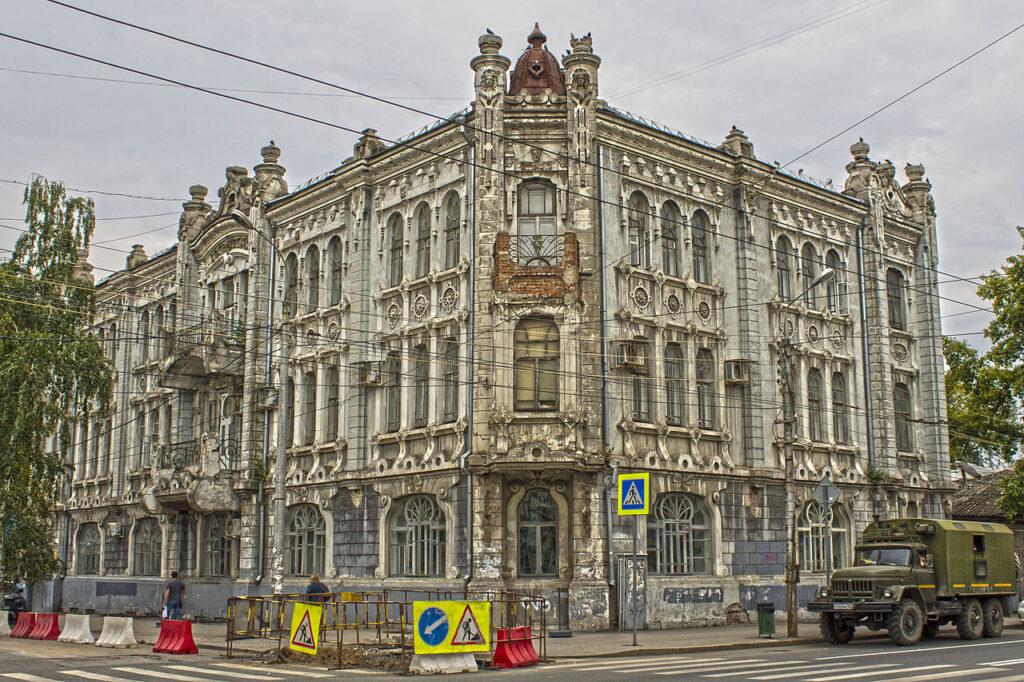 Russian Art Nouveau buildings:  Mikhail Kvyatkovsky, Alexey Nuychev's Apartment Building