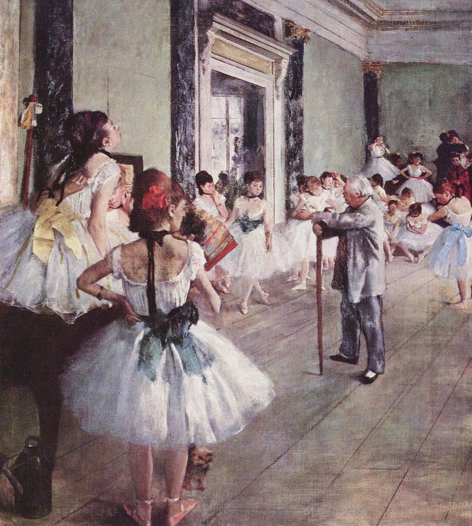 Edgar Degas, The Dance Class (La Classe de Danse), 1873-1876, Musee d'Orsay, Paris, France.