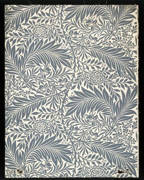 Arts and Crafts' Principles in Interior Design: William Morris Larkspur Pattern design