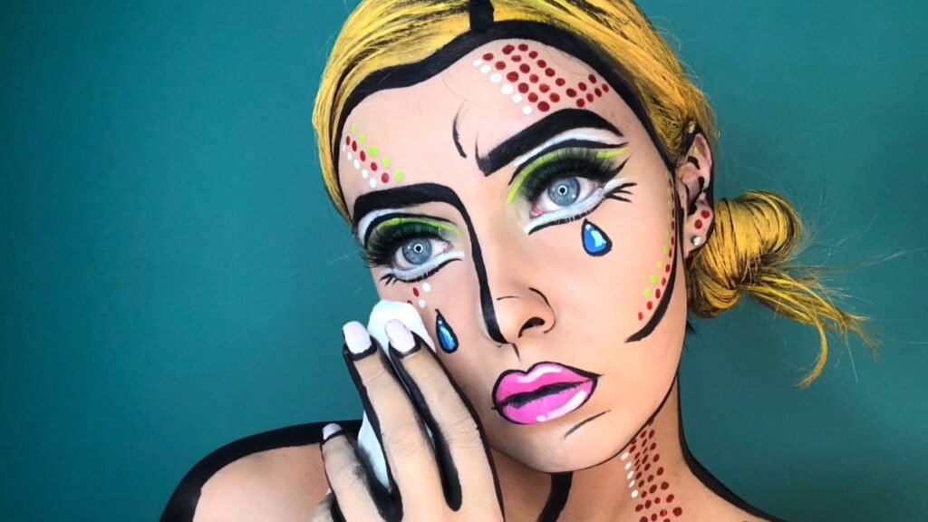 Comic book inspired makeup by Kelly Tull.