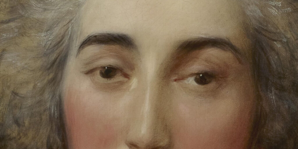 Thomas Gainsborough, Grace Dalrymple Elliott, ca. 1782, Frick Collection, New York City. Enlarged Detail of Eyes,