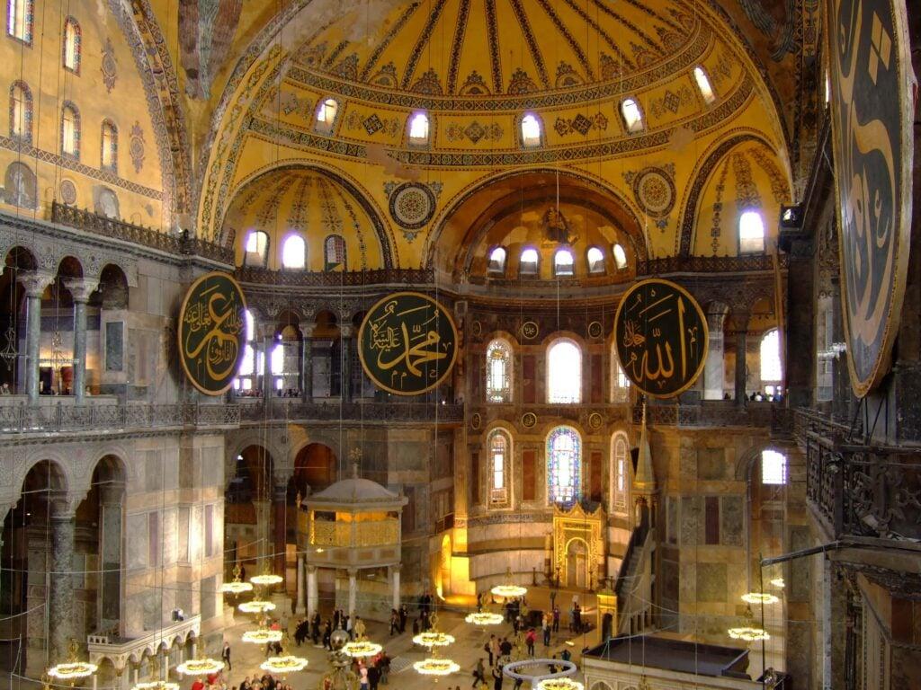 Hagia Sophia interior Brian Suda