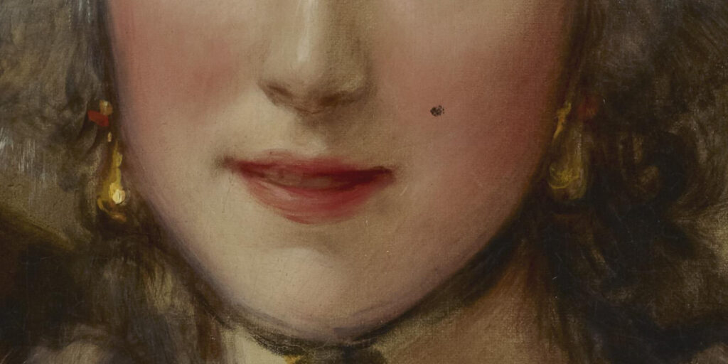 Thomas Gainsborough, Grace Dalrymple Elliott, ca. 1782, Frick Collection, New York City. Enlarged Detail of Mouth.