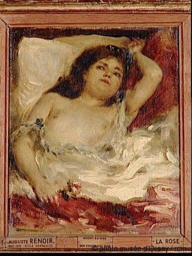 Pierre-Auguste Renoir, Half-naked woman lying: the rose