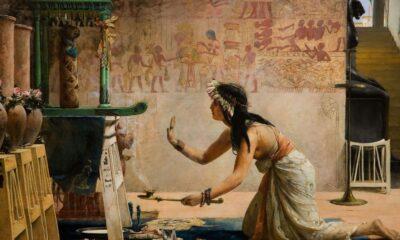 John_Reinhard_Weguelin_–_The_Obsequies_of_an_Egyptian_Cat_(1886) cover