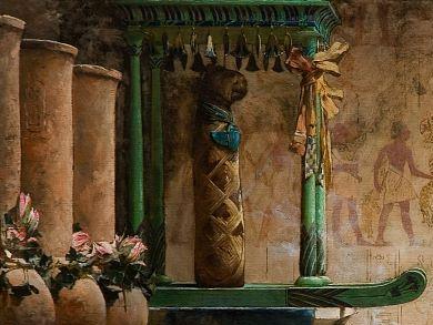John Reinhard Weguelin, The Obsequies of an Egyptian Cat