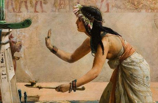 John_Reinhard_Weguelin_–_The_Obsequies_of_an_Egyptian_Cat_(1886) detail 5