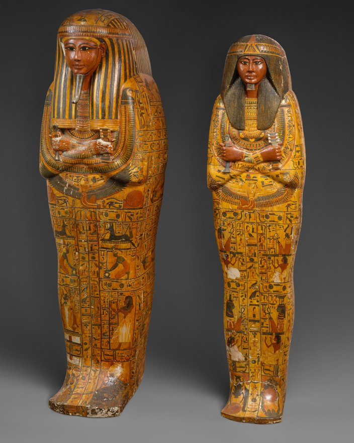Inner and outer coffins of Khonsu