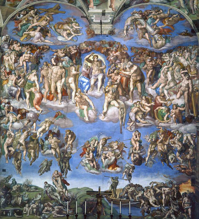 Altar wall, The Last Judgement, Vatican, Fresco