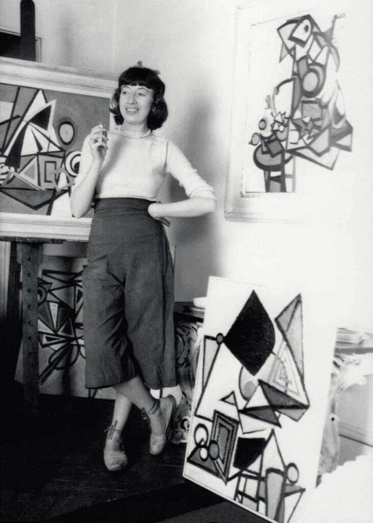 Lee Krasner in her New York studio