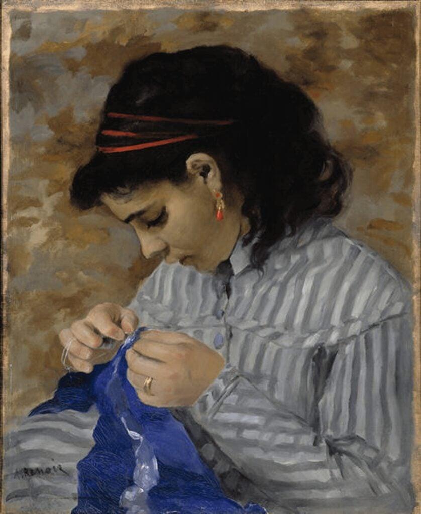 Pierre-Auguste Renoir, Lise Sewing,