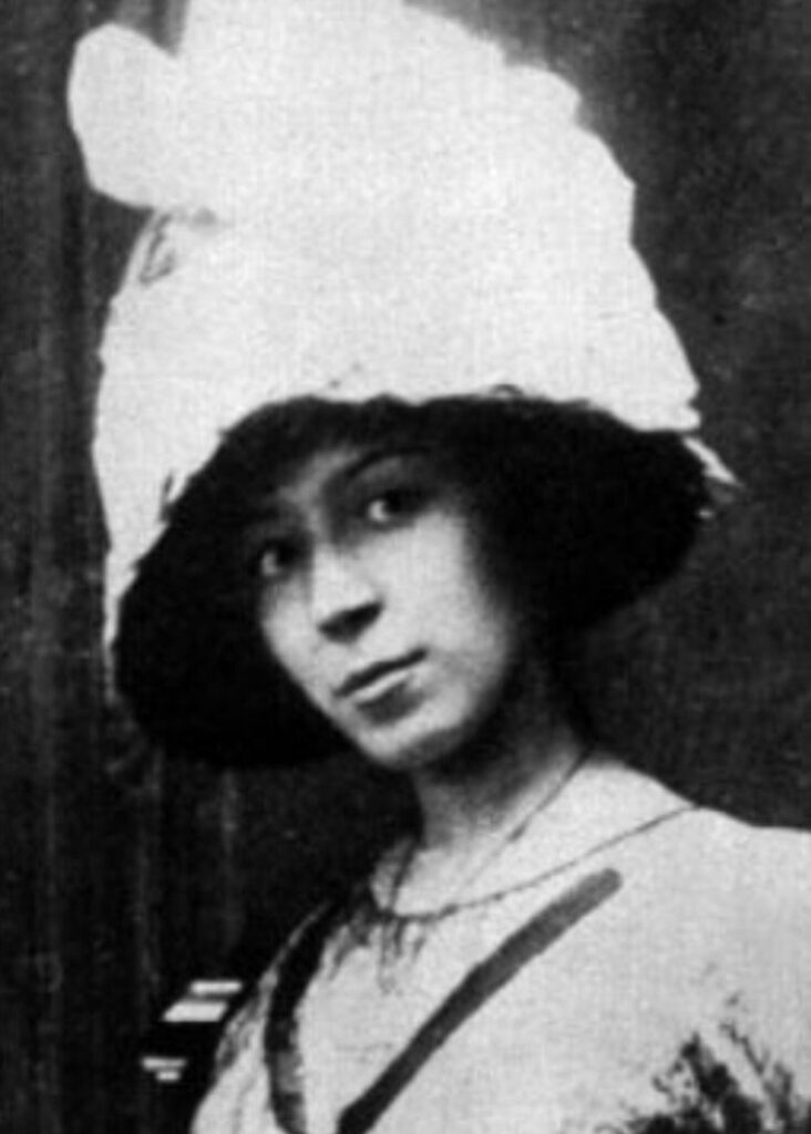 Marie Laurencin, photographer unknown, c.1912, Paris, France. Wikimedia Commons.