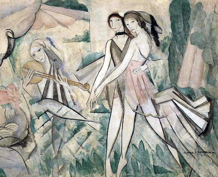 Marie Laurencin, Le Bal élégant, La Danse à la campagne, exhibited at the Salon des Independants, 1913, Paris,