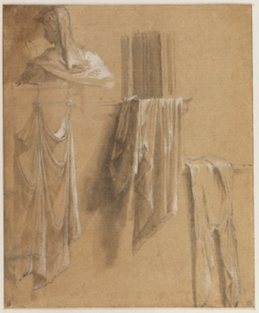Parmigianino washing and bust in everyday drawing Parmigianino, A Bust of a Woman in Profile and Studies of Washing Hanging Out to Dry; Renaissance life