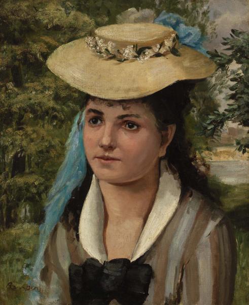 Pierre-Auguste Renoir, Lise in a Straw Hat