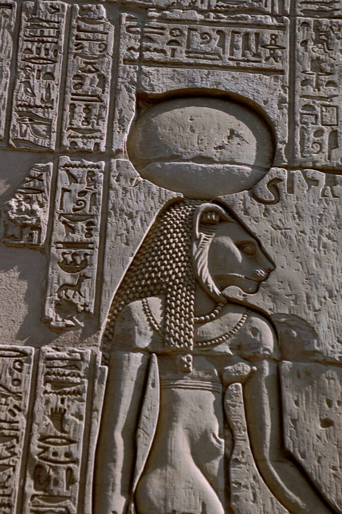 The Sacred Cats of Ancient Egypt: Bas-relief of the Goddess Sekhmet