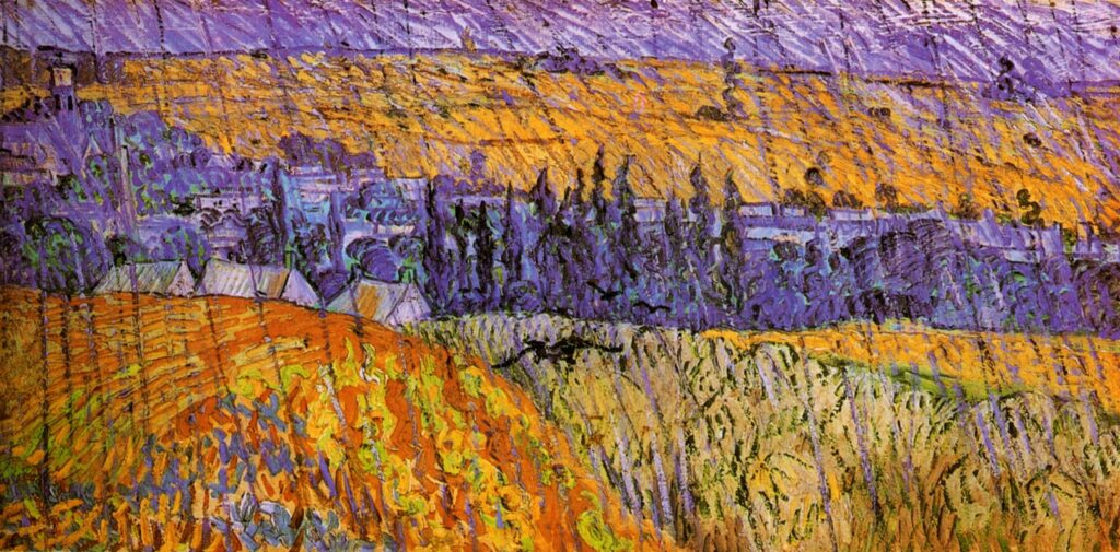 Davies Sisters collection: Vincent Van Gogh, Landscape at Auvers in the rain