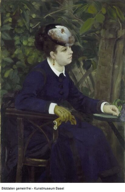 Pierre-Auguste Renoir, Woman in a Garden (Woman with a Seagull Hat)