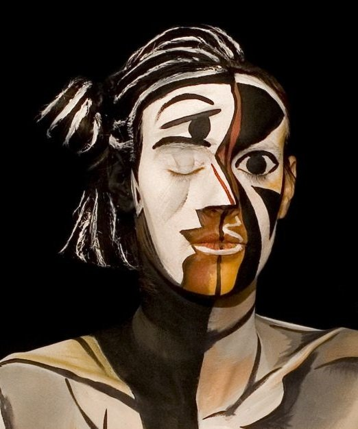 Makeup inspired by art. Makeup by Christopher Agostino.