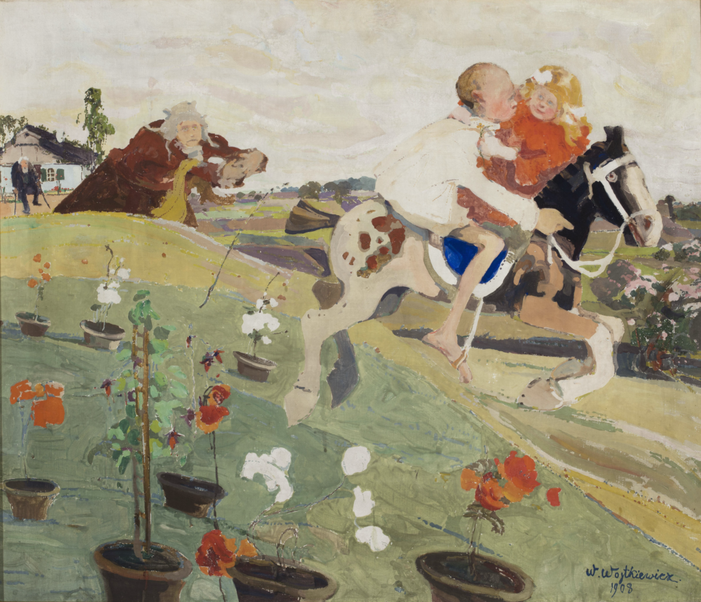 Witold Wojtkiewicz: Abduction of the King's Daughter, 1908