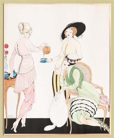 Gerda Wegener, Three Ladies - Teatime