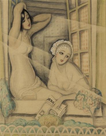 Gerda Wegener, Two Women in a Window