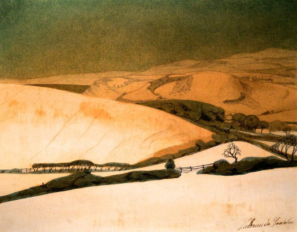 Davies Sisters collection: Valerius de Saedeleer, Winter Landscape near Aberystwyth