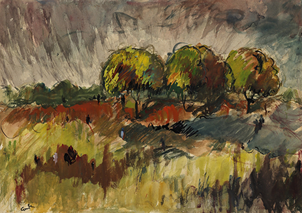 Progressive Artists Group, HA Gade, Trees, private collection.