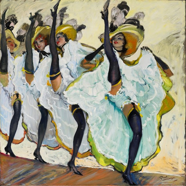 Can-can dancers in Paris by jean-Gabriel Domergue. Jean-Gabriel Domergue,Le French Can-Can; can can paintings