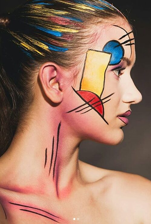 Makeup inspired by art. Makeup look by Jessica Troppens.