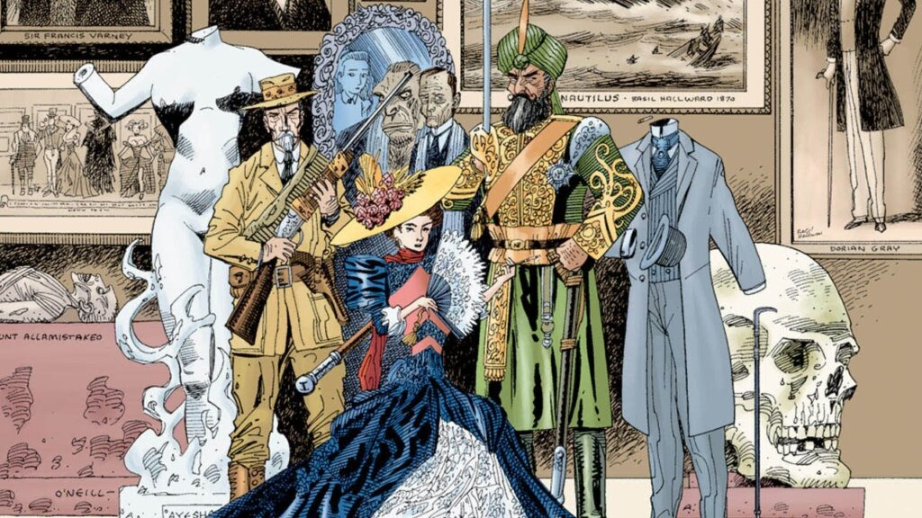 Detail of the cover of The League of Extraordinary Gentlemen, volume 1. Source: Youtube.