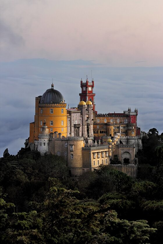 Most colourful places in the world: Pena Palace, Sintra, Portugal