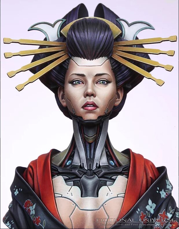 Queen, Sculpted and painted by Sang-Eon Lee