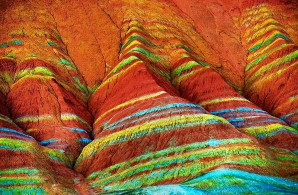 Colorful Places in the World: Rainbow Mountains, Zhangye Danxia National Geological Park, Gansu, China