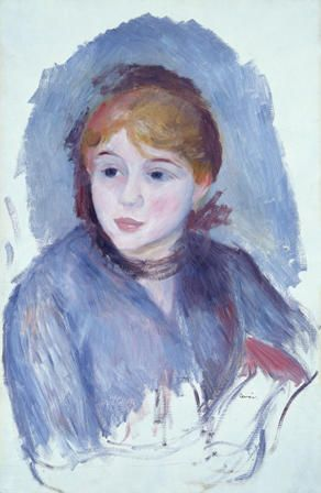Davies Sisters collection: Pierre-Auguste Renoir, Young Girl in Blue