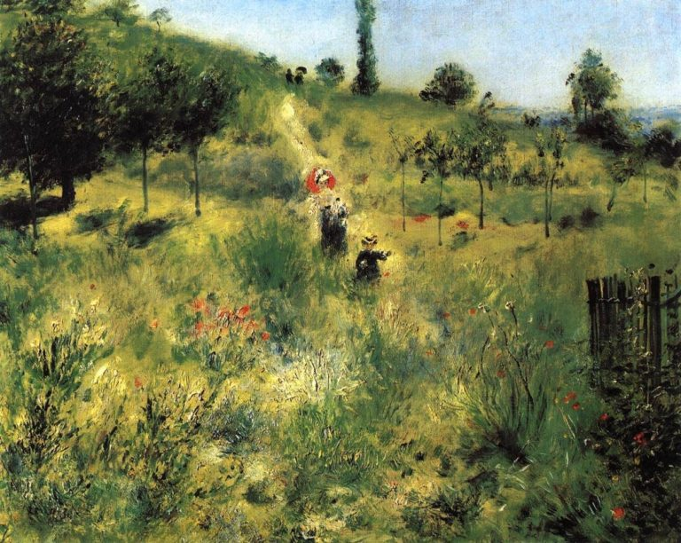 Auguste Renoir, Path Leading through Tall Grass, 1875, Musée d'Orsay, Paris, France.