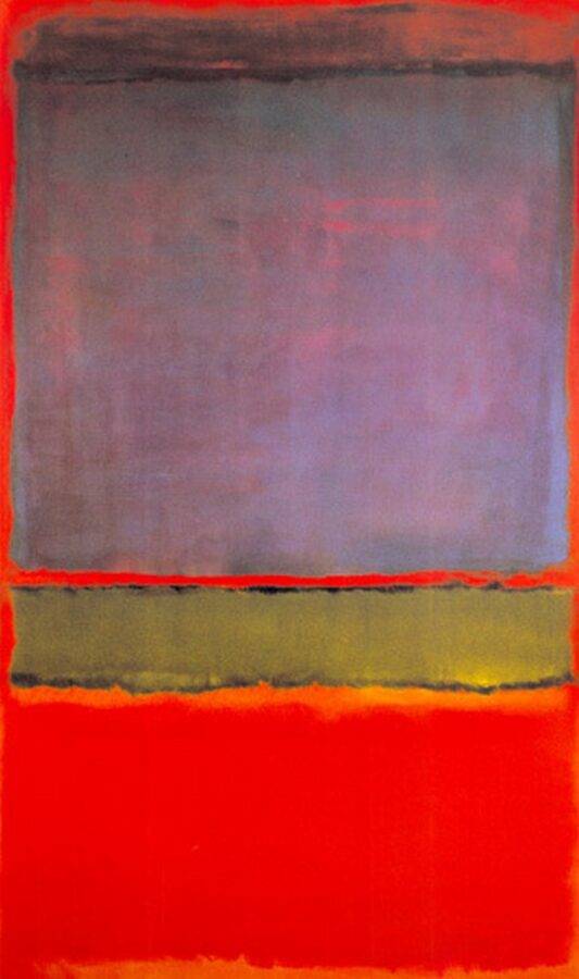 Mark Rothko, No 6. (Violet, Green and Red)