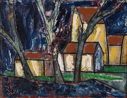 Progressive Artists Group, FN Souza, Untitled, 1962, private collection