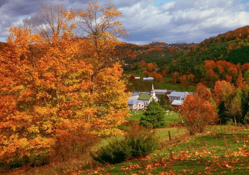 Colorful Places in the World: Vermont, New England, USA