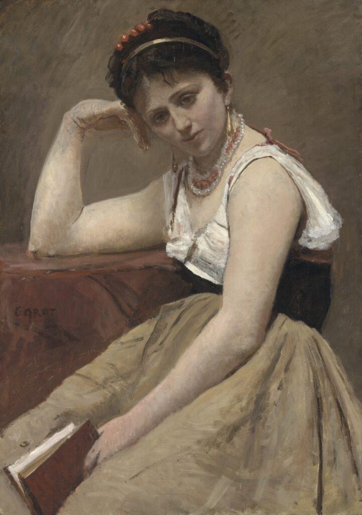 Jean-Baptiste-Camille Corot, Interrupted Reading; Agostina Segatori