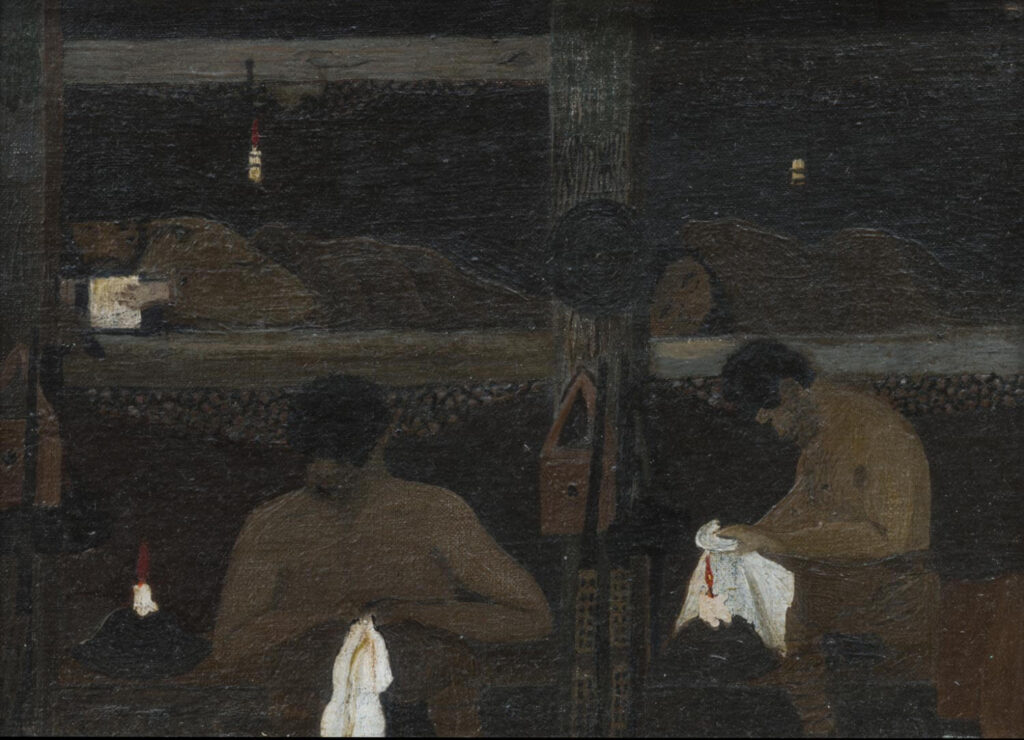Horace Pippin, Study for The Barracks