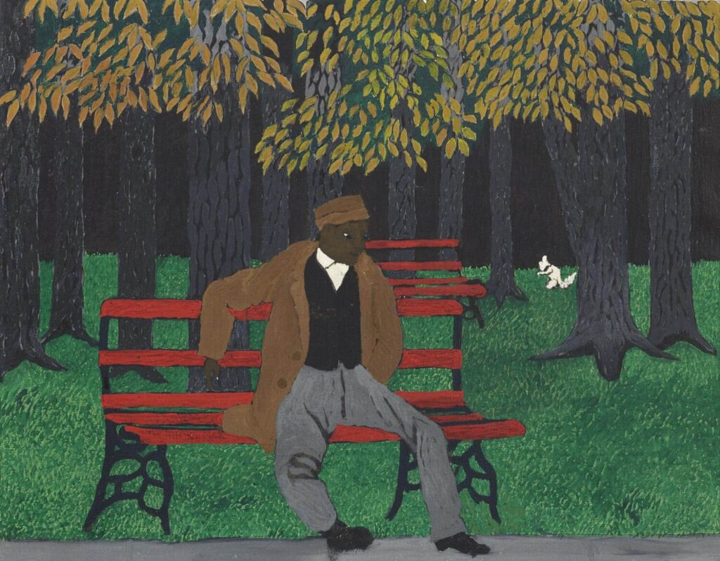 Horace Pippin, The Park Bench