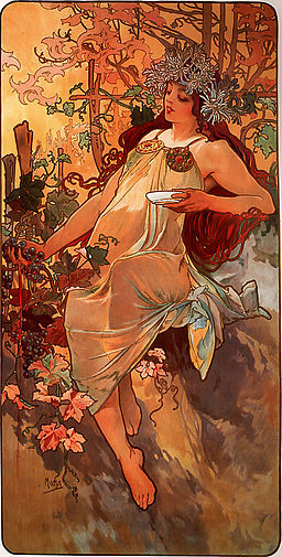 Allegories of Autumn: Alphonse Mucha, Autumn