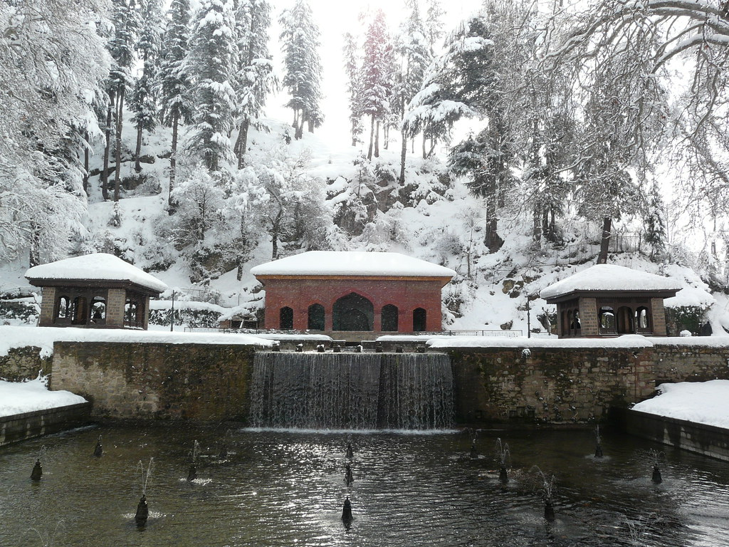 Mughal Gardens at Achabal in the winter