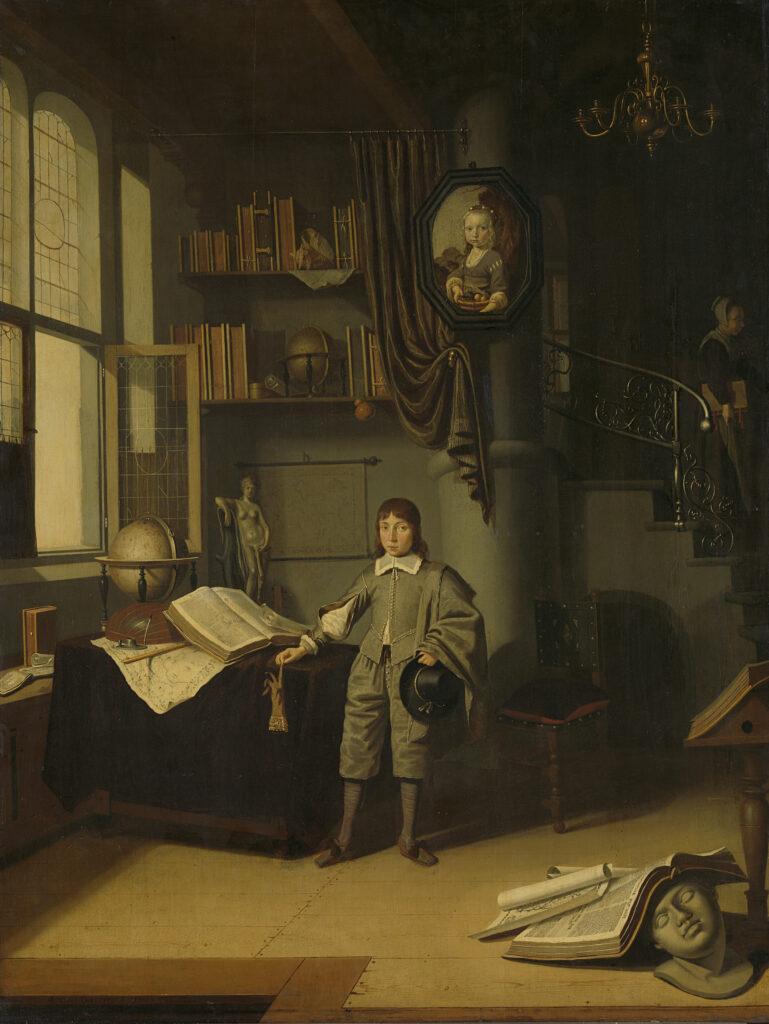 Back to School in Art: Adriaen van Gaesbeeck, Young Man in a Study,