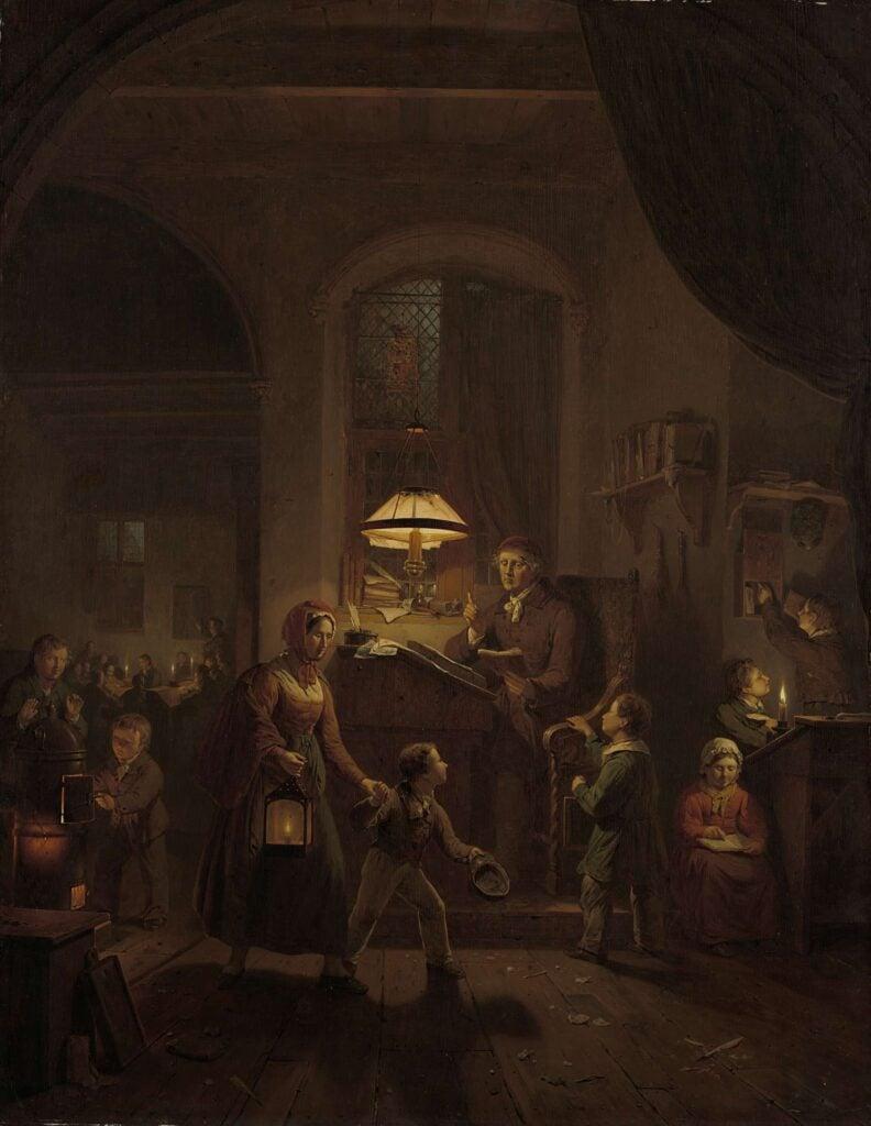 Back to School in Art: George Gillis Haanen, The Evening School,