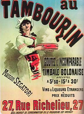 Jules Cherét, Poster of Café du Tambourin; Agostina Segatori