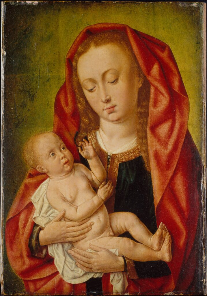 Master of Saint Giles, Virgin and Child with a Dragonfly, 1500,