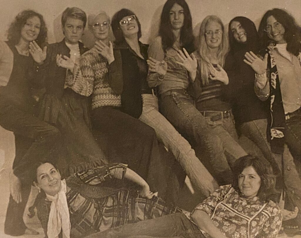 Members of the Los Angeles Council of Women Artists, clockwise from the left: Alexis Smith, Ann McCoy, Barbara Haskell, Janice Brown, Avilda Moses, Barbara Munger, Lois Miller, Susan Titelman, Vija Clemins, and Luchita Hurtado, Los Angeles.