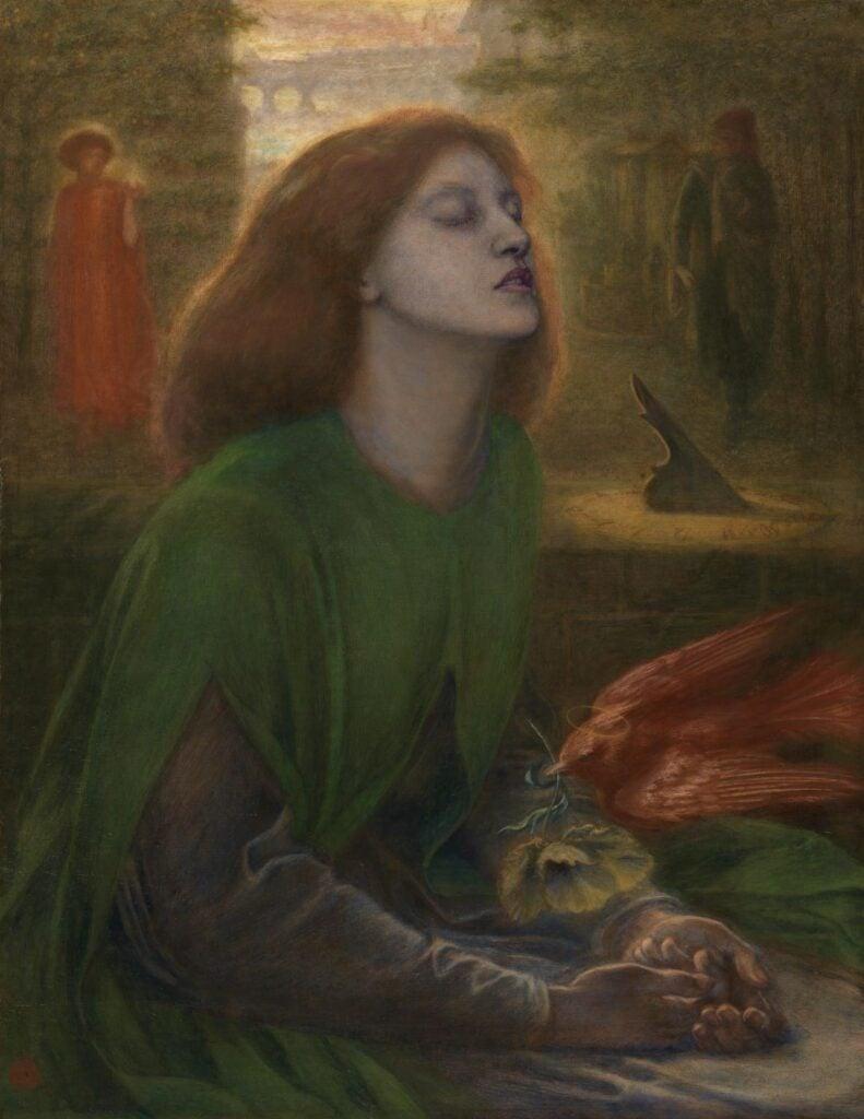 muse in art: Dante Gabriel Rosetti, Beata Beatrix